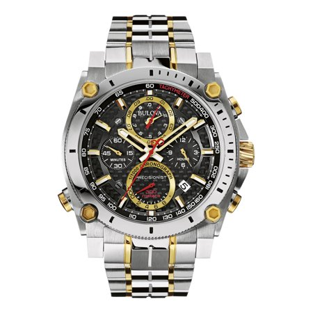 Bulova Men's Precisionist Two Tone Stainless Steel Chronograph Watch