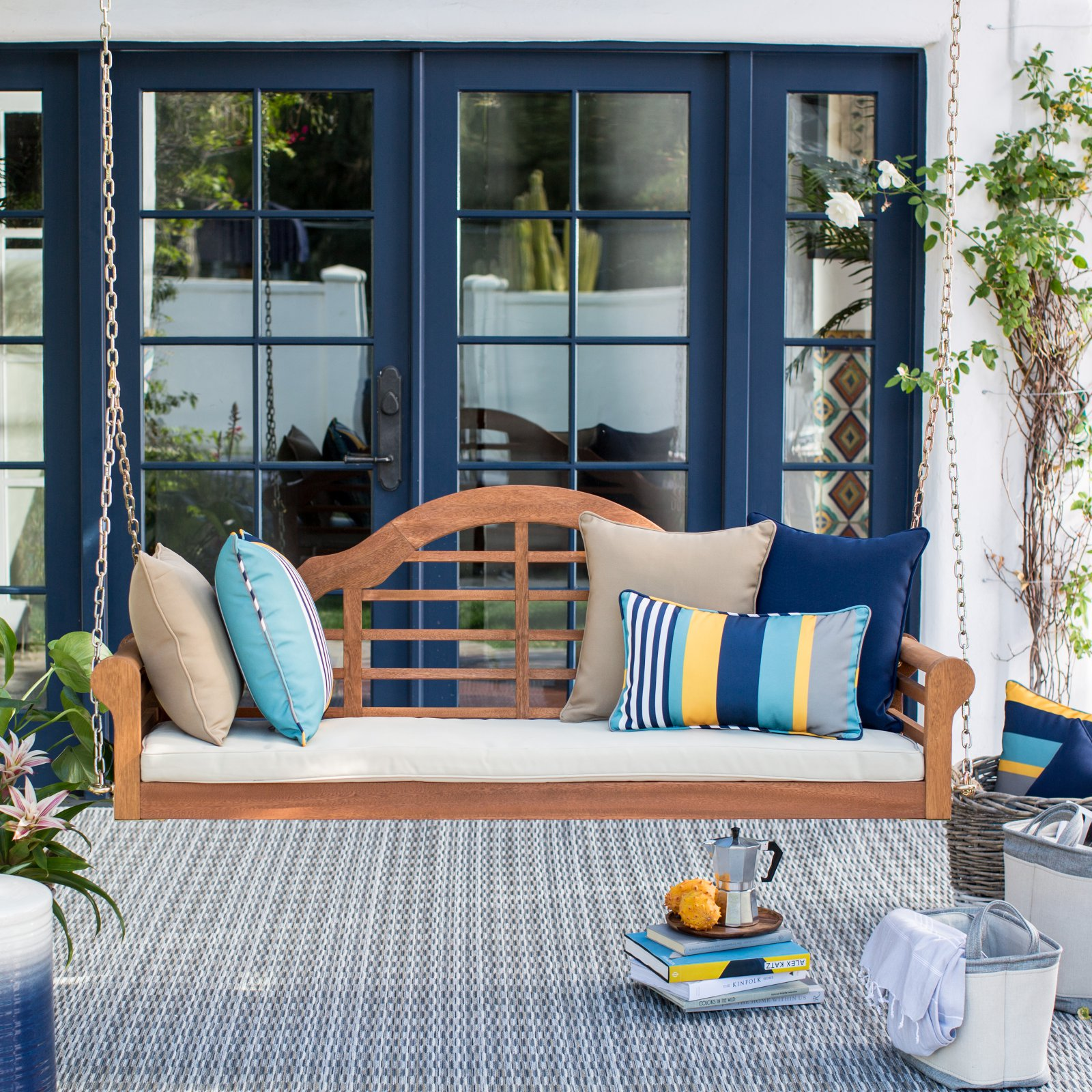 Belham Living Kimbro Lutyens Outdoor Porch Swing with Cushion