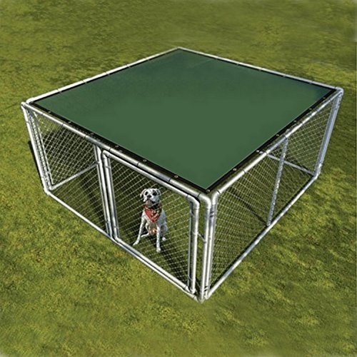 Aleko 5' x 15' Dog Kennel Shade Cover with Aluminum Grommets, Dark Green
