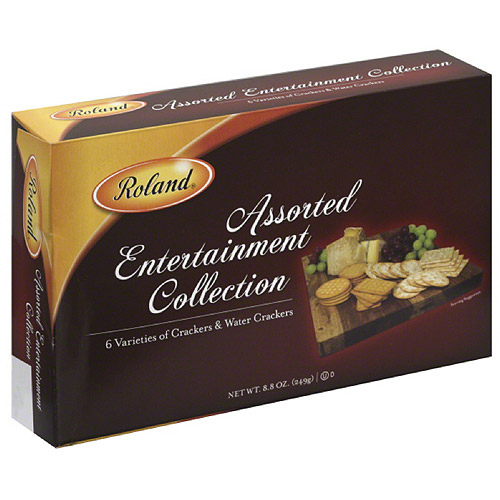 Roland Crackers & Water Crackers Assorted Entertainment Collection, 8.8 oz, (Pack of 12)