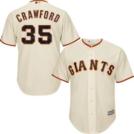 newest 1b2d1 2be32 Brandon Crawford San Francisco Giants Majestic Cool Base Player Jersey - Tan