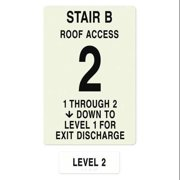 INTERSIGN NFPA-PVC1812(B1A2) NFPASgn,Stair Id B,Floors Served 1 to 2 G0263649