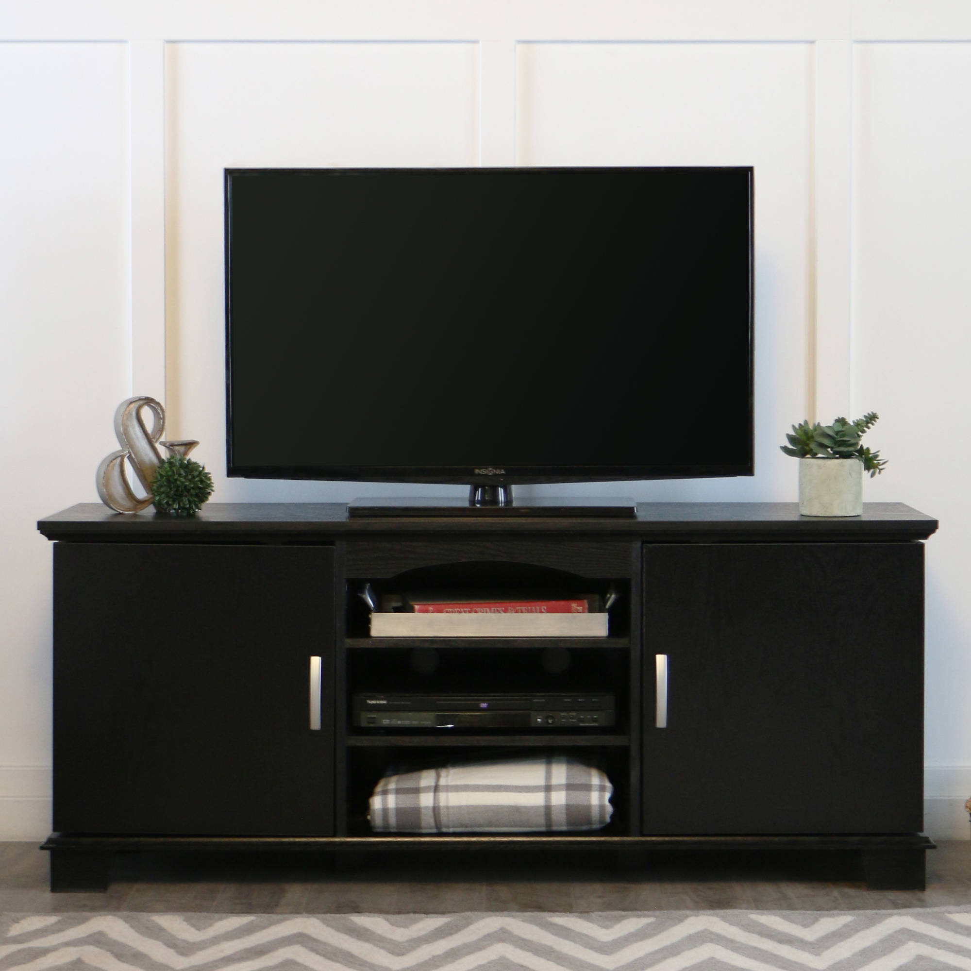 "Walker Edison Black TV Stand for TVs up to 65"", Muliple Colors"