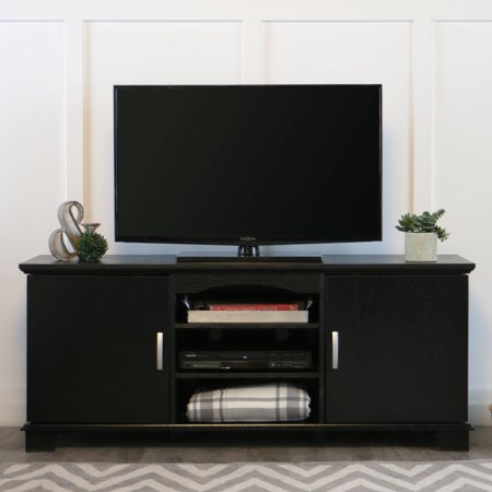 Walker Edison Black TV Stand for TVs up to 65″, Muliple Colors