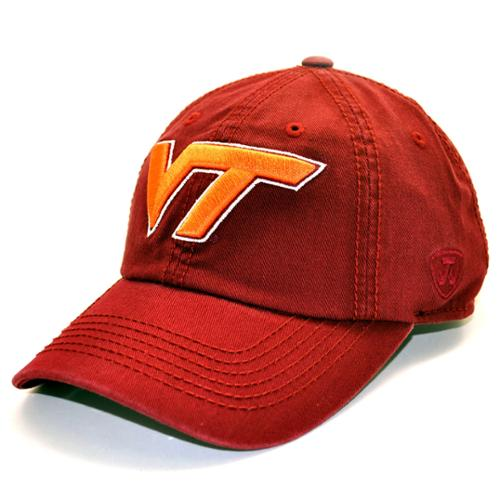 Virginia Tech Hokies Enzyme Washed Adjustable Hat - Maroon
