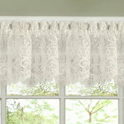 Hopewell Heavy Floral Lace Kitchen Window Curtain 12 X 58 Valance