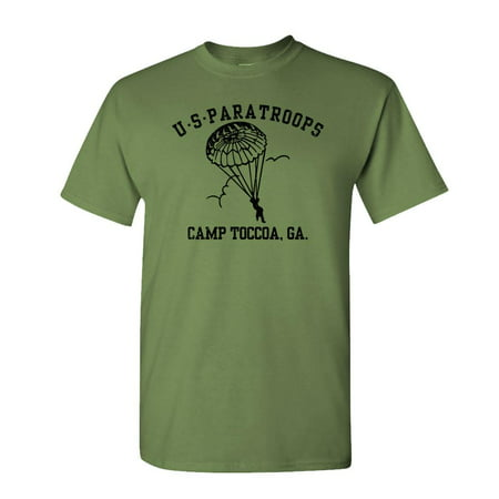 - US PARATROOPS camp toccoa wwii ww2 army - Mens Cotton T-Shirt