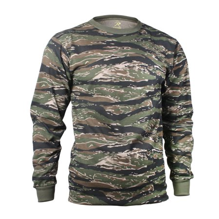 L/S T-Shirts Tiger Stripe SML - Mens Firefighter L/s Shirt
