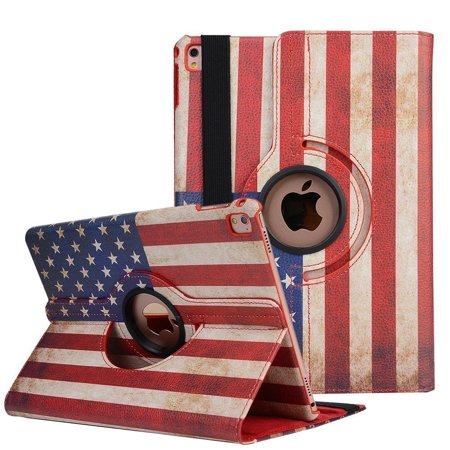 Apple IPad 3 A1416 / A1430 / A1403 Tablet PU Leather Folio 360 Degree Rotating Stand Case Cover American (Best Leather Ipad 3 Case)
