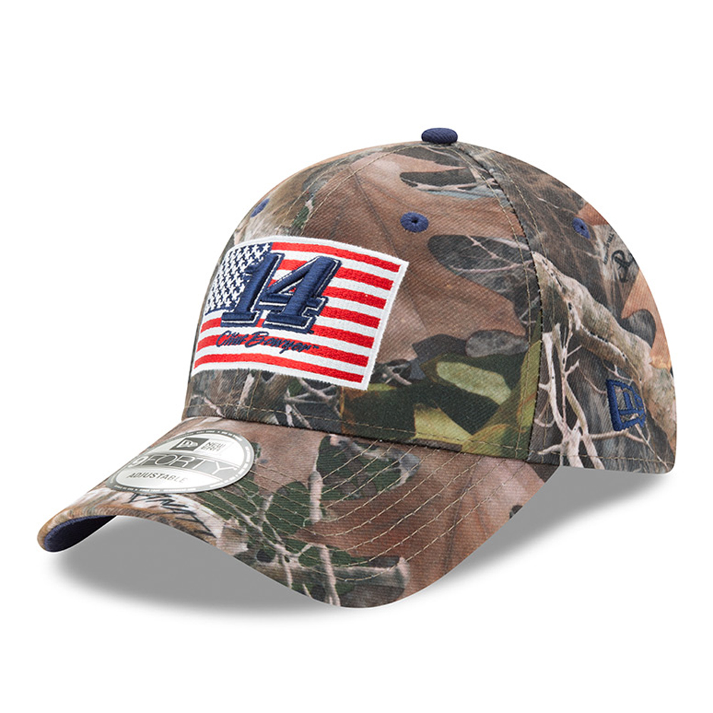 Clint Bowyer New Era Flag 9FORTY Adjustable Hat - Camo - OSFA