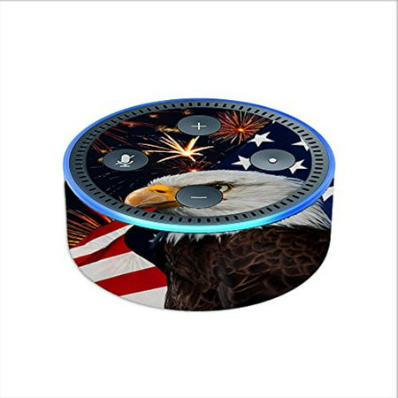 Skin Decal Vinyl Wrap For Amazon Echo Dot 2  2Nd Generation    Eagle America Flag Independence