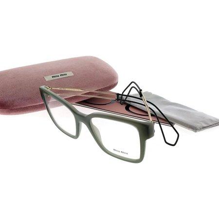 Miu Miu MU02PV-USK1O1-51 Women's Green Frame Clear Lens Genuine Eyeglasses (Miu Miu Frames 2017)