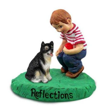 RBD108 CON Alaskan Malamute Reflections w/Boy Figurine
