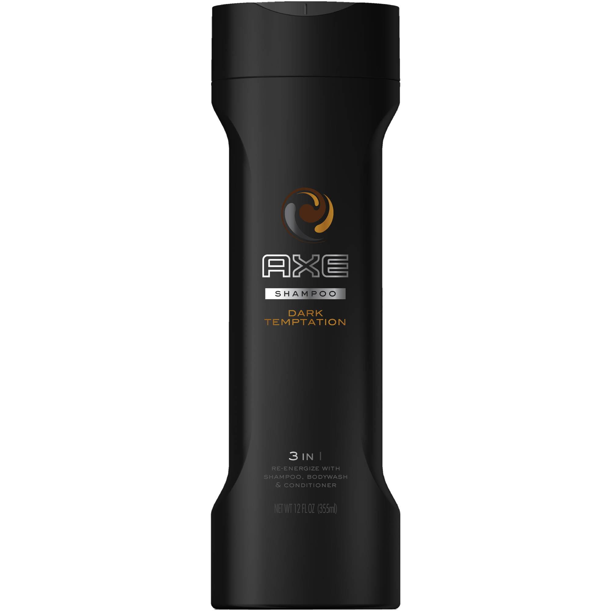 AXE Dark Temptation 2 in 1 Shampoo and Conditioner, 12 oz