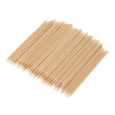 100PCS Nail Art Wood Sticks Wooden Cuticle Remover Pusher Manicure Pedicure Tool Disposable Opi Cuticle Stick