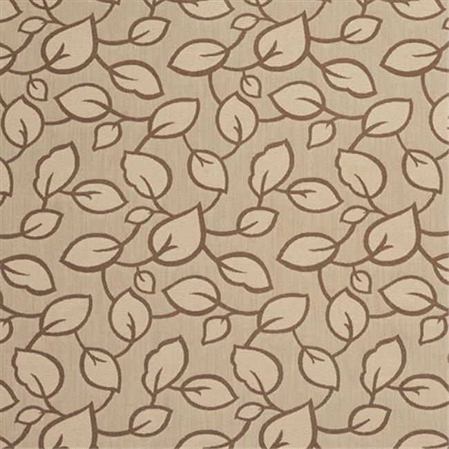 Designer Fabrics U0000C 54 in. Wide Brown And Mocha Large Scale Leaves Upholstery Fabric