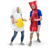 Boo! Inc. Bacon & Egg Breakfast Adult Couple's Halloween Party Role Play & Cosplay Costume