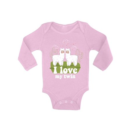 3bc27416f6b2 Awkward Styles My Twin Baby Bodysuit Long Sleeve Funny Twins Baby Shower  Gifts Cute Llamas Twins Outfit for Baby Girl Cute Llamas Twins Outfit for Baby  Boy ...