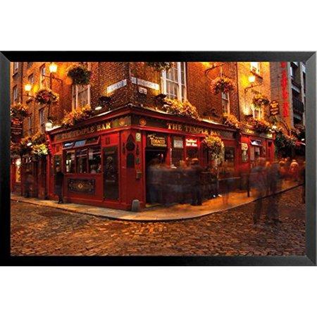 Buyartforless Framed Temple Bar Dublin Ireland 36X24 Photograph Art Print Poster Travel