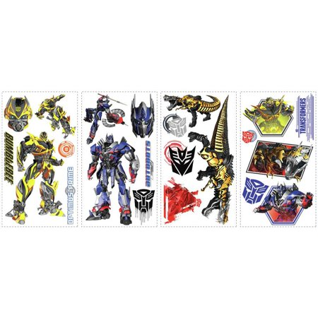 Transformers Age of Extinction 20 Peel & Stick Wall Decals Boys Room Stickers Decor ()