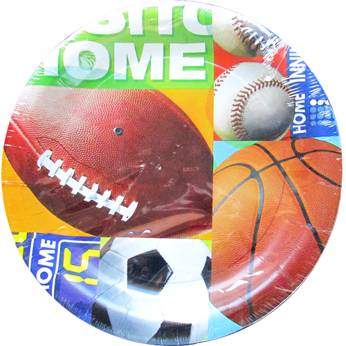 Sports 'Home Team' Large Paper Plates (8ct)