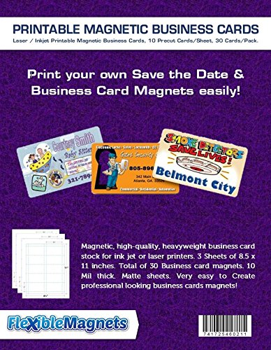 photo regarding Printable Magnetic Paper identified as 3 Inkjet Printable Office Card Magnetic Sheets. Pre-slash Playing cards. 30 Playing cards all round, Magnetic, superior-high-quality, heavyweight business office card inventory for ink jet