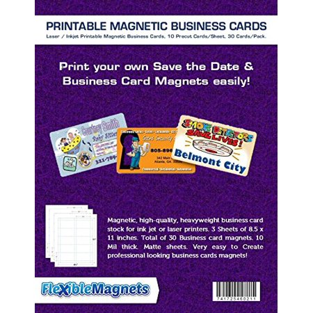 3 Inkjet Printable Business Card Magnetic Sheets. Pre-cut Cards. 30 Cards total, Magnetic, high-quality, heavyweight business card stock for ink jet or laser.., By Flexible magnets](Halloween Color Sheet Printable)