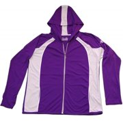 Under Armour Womens Small Purple with Grey Yoga Heatgear Zip Up Jacket NWOT