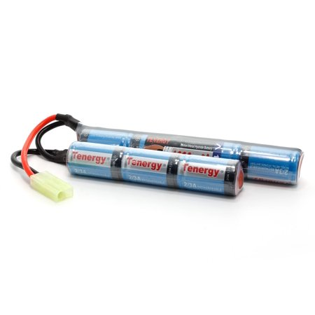 Tenergy 8.4V Airsoft Battery 1600mAh NiMH Nunchuck Battery w/Mini Tamiya Connector High Discharge Rate Stick Shape Butterfly Battery for Airsoft Gun M4 Rifles (M4 Airsoft Gas)