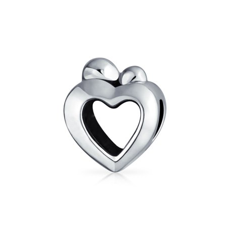 Bling Jewelry 925 Silver Mother Child Open Heart Love Bead Fits Pandora