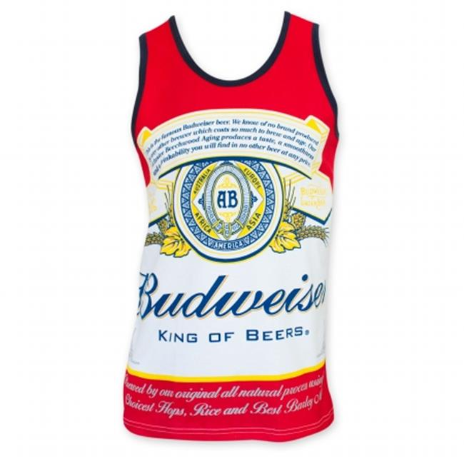 Budweiser 26755L Mens Bottle Label Tank Top, Large