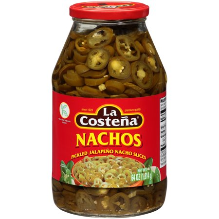 (6 Pack) La Costena: Pickled Jalapeno Nacho Slices, 64 Oz