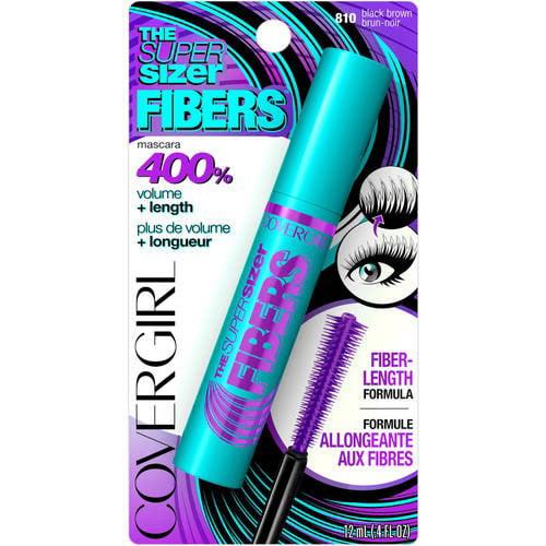COVERGIRL The Super Sizer Fibers Mascara Black Brown .35 fl. oz. (Pack of 8)