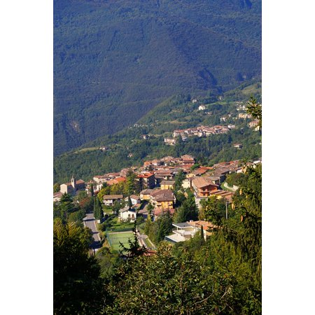 Laminated Poster Italy Mountain Views West Bank Garda Tignale Poster Print 24 X 36