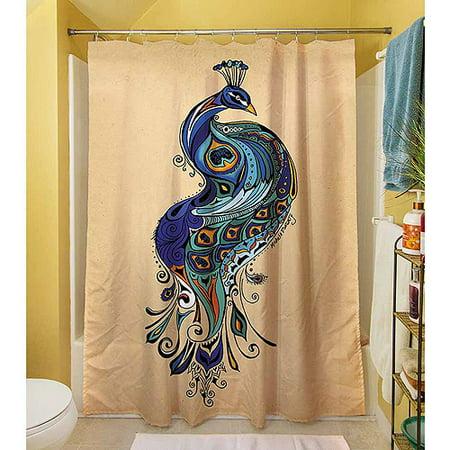 Thumbprintz Peacock Shower Curtain
