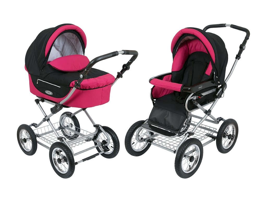 Roan Kortina Classic Pram Stroller 2-in-1 with Bassinet and Seat by ROAN