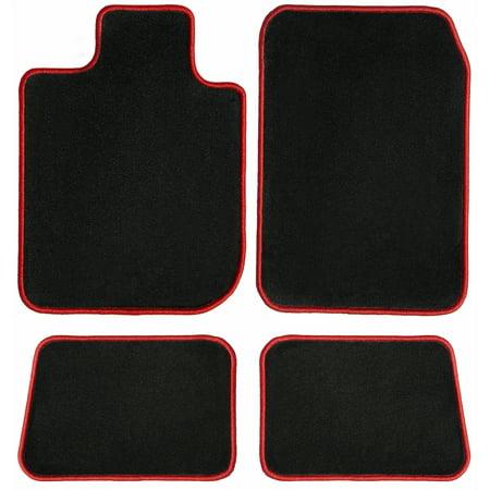 GGBAILEY Toyota Rav4 Black with Red Edging Carpet Car Mats / Floor Mats, Custom Fit for 2013, 2014, 2015, 2016, 2017, 2018, 2019 - Driver, Passenger & Rear (2019 Best Driver's Car)