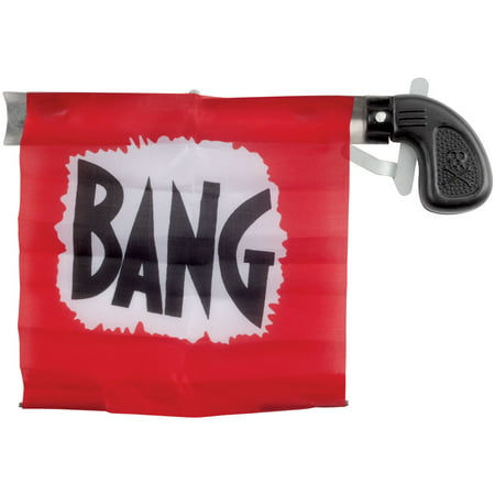 Star Power Starter Prank Bang Gun Flag Pistol, Black Red, 5