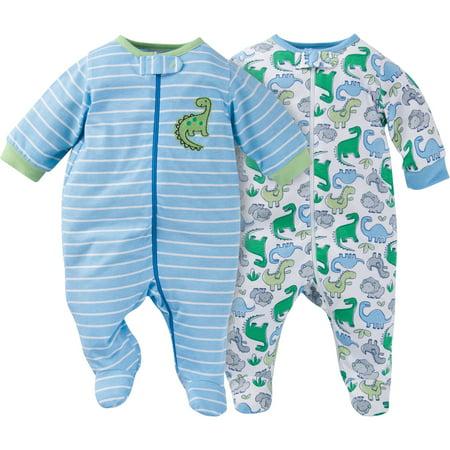 8567e5c52 Gerber - Newborn Baby Boy Zip Front Sleep N Plays