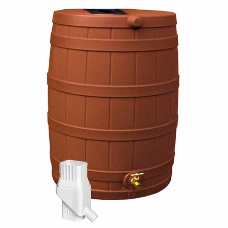 Rain Wizard 50 Diverter Kit, Terra Cotta (Best Rain Barrel Diverter Kit)