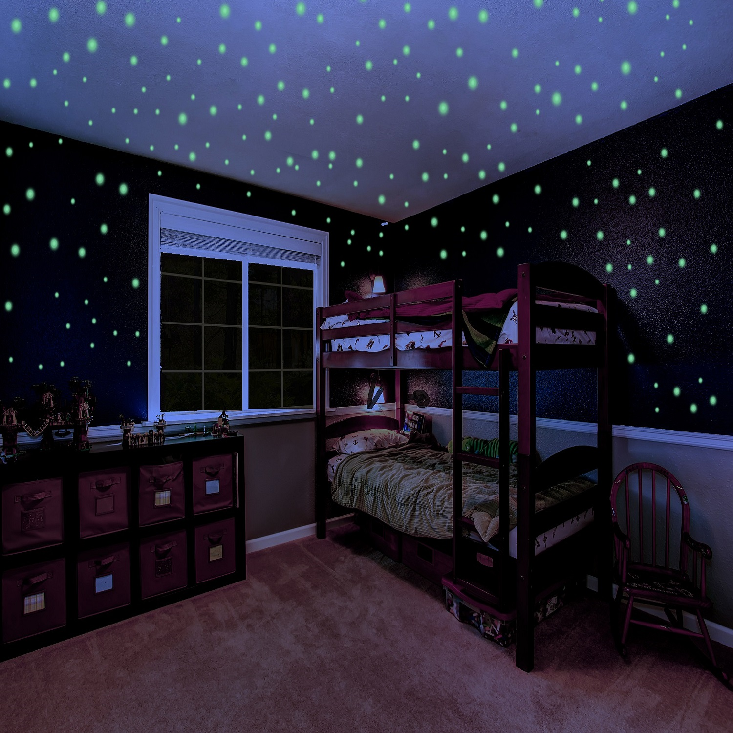 Glow in the Dark Stars for Kids Self Adhesive Glowing Star Decal for Children's Bedrooms Glow In The Dark Star Ceiling and Wall Stickers 732 3D Glowing Dots for Nurseries Kid Rooms or Dorms