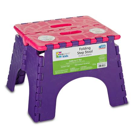 Pleasing Mainstays 9 Folding Step Stool Pink Violet Beatyapartments Chair Design Images Beatyapartmentscom