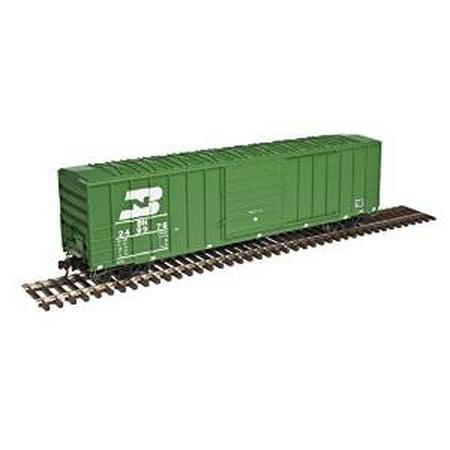 Atlas Ho Scale Fmc 5077 Single Door Boxcar Burlington Northern Bn Green  249976