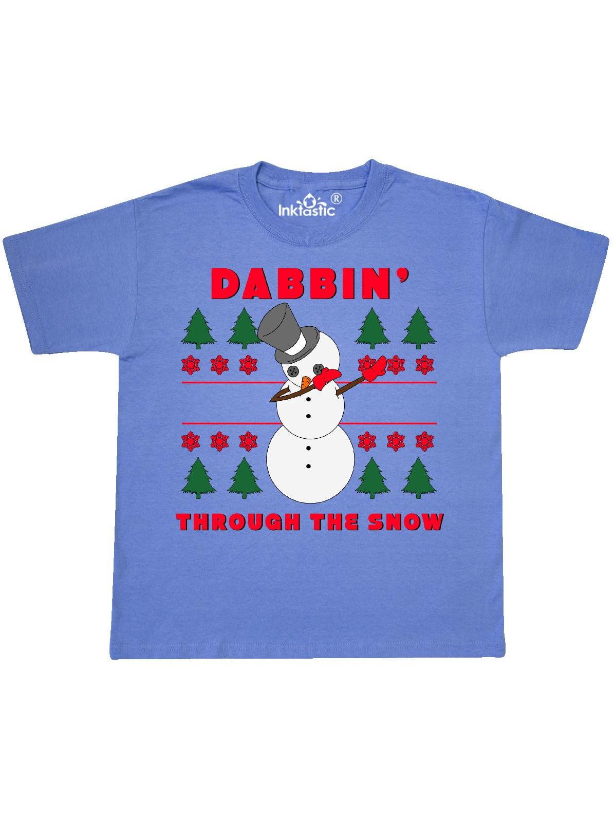 dabbin through the snow snowman Youth T-Shirt