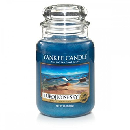 Yankee Candle Turquoise Sky Scented Large Jar  22 (Bamboo Soy Candle)