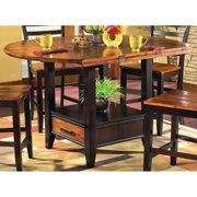 Greyson Living  Acacia 42-inch Counter Height Drop Leaf Storage Table