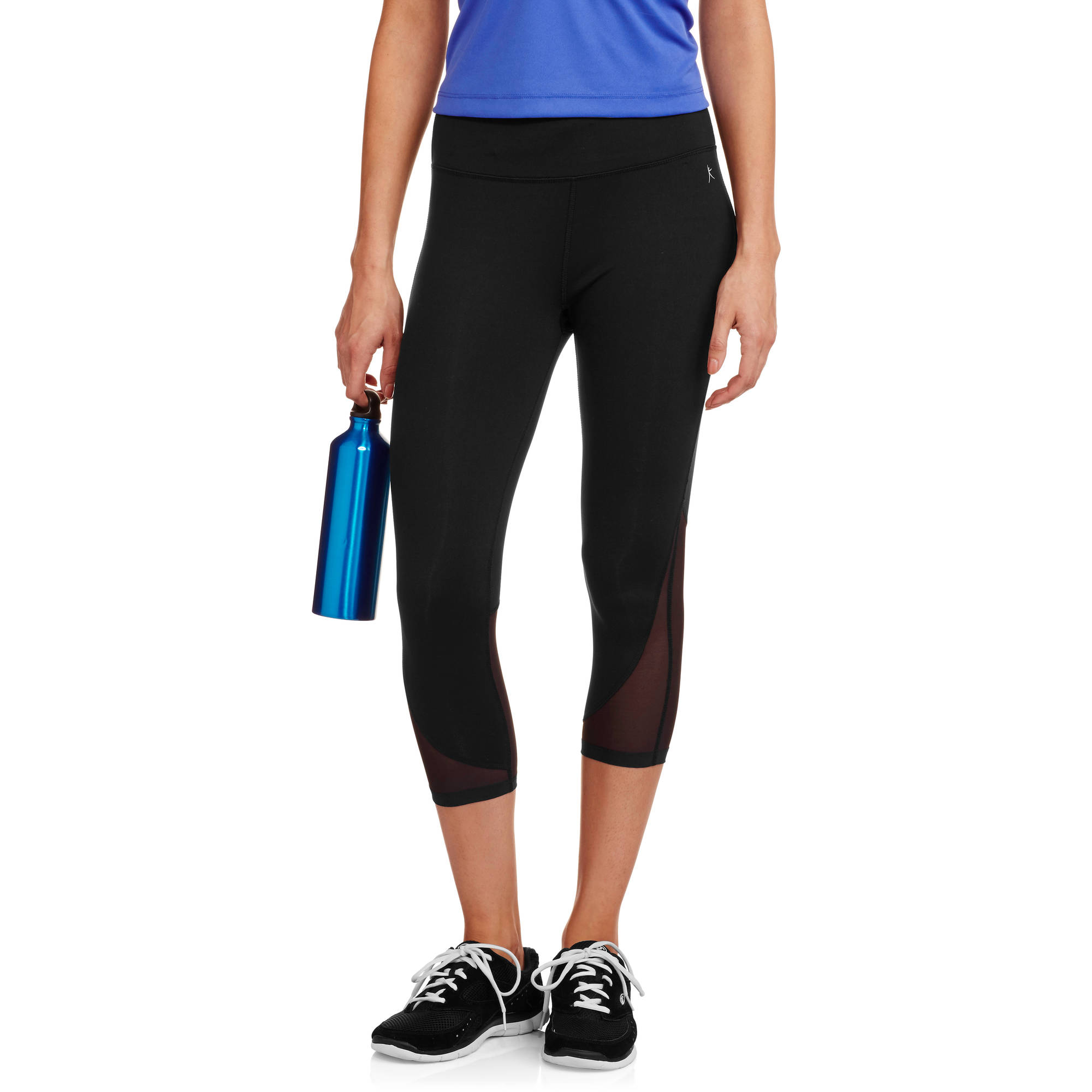 Women's Premium Nylon Performance Capri Tight with Mesh Hem