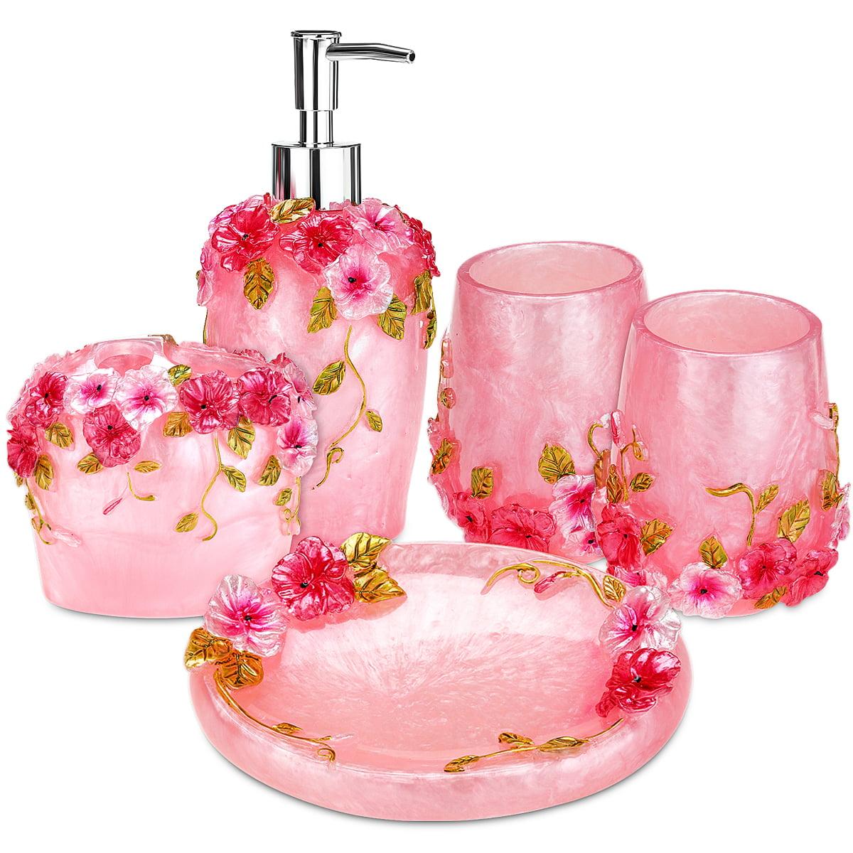 5 Piece Bathroom Accessories Set, Bathroom Toothbrush Holder Set