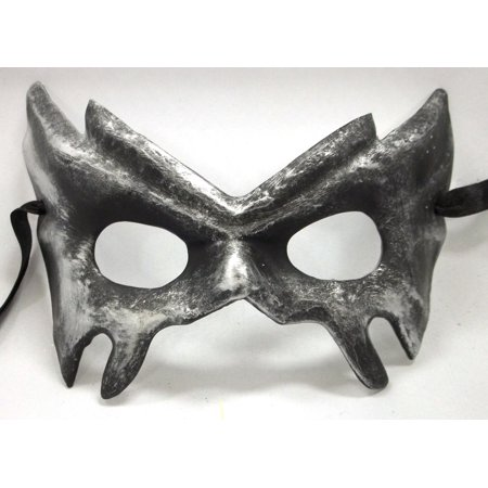 Hellish Devil Eyes Silver Gray Paper Mache Halloween Mardi Gras Masquerade Mask](Halloween Decorations With Paper Mache)