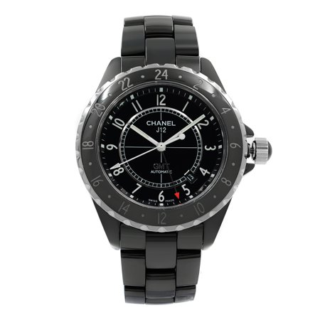- Pre-Owned Chanel J12 GMT Black Arabic Dial Ceramic Automatic Unisex Watch H2012